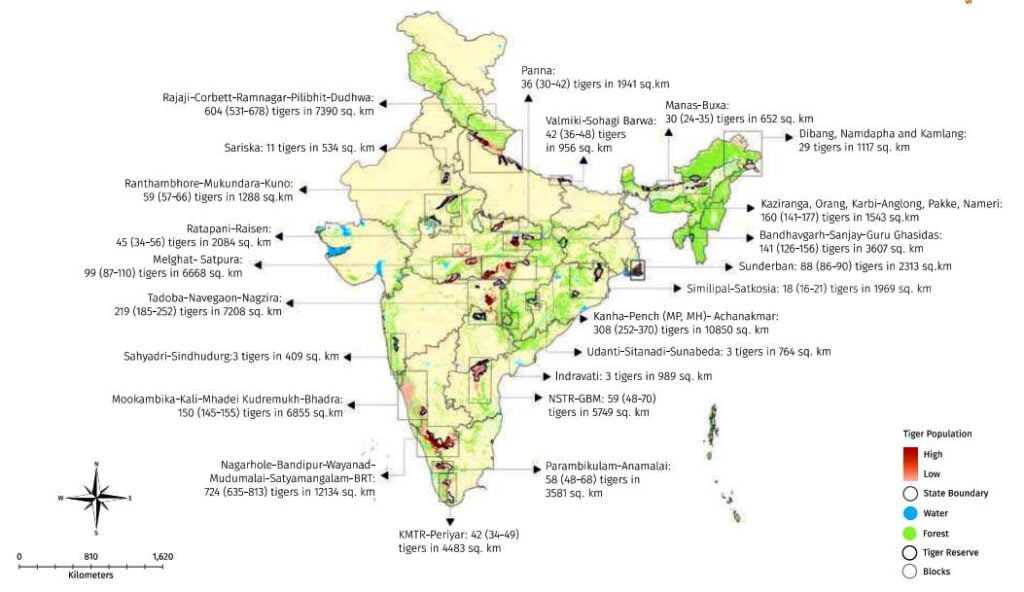 population of tigers in india